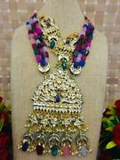 Necklace Earring Bead Silver Indian Fashion Jewelry India Brides Fancy Bollywood