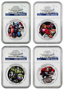 2014 Niue Silver 2 -avengers Characters - Colorized - Pf 70 Ultra Cameo