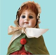 15 Tall Antique German Bisque Head Doll Candy Container - All Original