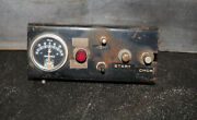 Vintage Snow Plow Truck Dash Gauge Panel Salt Spreader Start Chock Faria Amperes