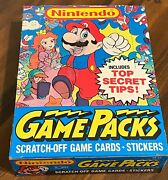Rare Nintendo Game Packs Vintage Card Box 48 Packs Topps 1989 X-out Hot 📈🔥