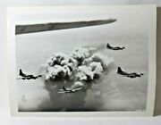 Wwii Original Archive Usaf Photo Bombs Droppings On Oil Refineries In Rumania