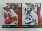 New Transformers Generations Cyber Battalion Sideswipe And Prowl Lot Of 2
