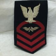 Vtg Military Patch Aviation Metalsmith Structural Mechanic Bullion Variant Cpo