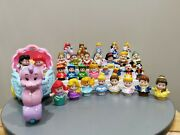 Fisher Price Disney Little People Lot Of 31 And Ariel's Coach Incl. 5 Klip Klop