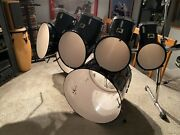 Vintage 1983 North Drums High Gloss Black With Gibralter Rack
