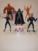 Marvel Legends 6 Fantastic Four Action Figure Lot And The Infamous Iron Man