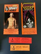 Vtg 1990s Spooky World Mass Horror Theme Park Halloween Tickets And Pamphlets