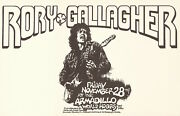Minty Rory Gallagher 1975 Armadillo Austin Poster