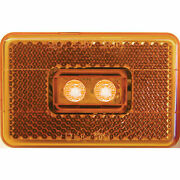 Peterson The 170 Series Piranha Led Clearance/side Marker Light W/reflex-amber