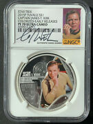 2015 Star Trekandnbsp Silver 2 Coin Set Signed By William Shatner Ngc Pf70 Uc Er