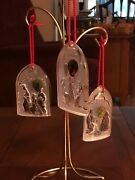 Waterford The Nativity Collection Ornaments Set Of 3 '98,'99, '00
