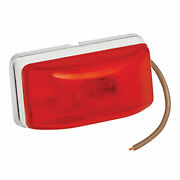 Wesbar 203234 Stud-mount Side Marker Clearance Light-red W/white Base