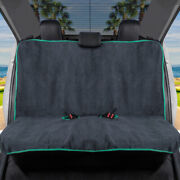 Gofit Towel Car Seat Cover - Waterproof Rear Bench Cover With Mint Trim
