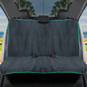 Waterproof Towel Car Seat Cover - Rear Bench Cover With Mint Trim