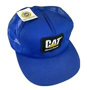 Vintage Nwt Cat Diesel Power Patch Snapback Hat Made In Usa Tonkin Trucker Nos