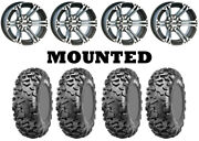 Kit 4 Cst Stag Tires 27x9-12/27x11-12 On Itp Ss212 Machined Wheels H700