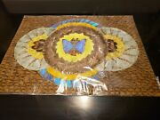 Vintage Real Blue Morpho Butterfly Wing Art From Brazil  2