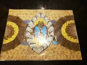 Vintage Real Blue Morpho Butterfly Wing Art From Brazil  1