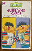 Vintage 1978 Whitman Sesame Street See And Know Guess Who Cards Game