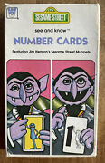 Vintage 1978 Whitman Sesame Street See And Know Number Cards