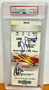 2009-10 Stephen Curry Signed Auto On Rookie Year Season Ticket Psa Authentic