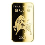 Special Price 2021 1oz .9999 Gold Bar Lunar Year Of The Ox In Certi-lockandreg A508