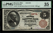 1882 5 National - Bucyrus Oh - Brown Back - Fr.467 Charter 3274 - Pmg 35