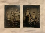1870s Firemen Family 6th Plate Tintypes River Point Hose 2 Warwick Rhode Island