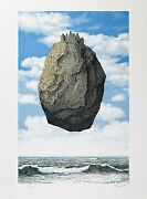 Rene Magritte - The Castle Of The Pyrenees Signed And Numbered Lithograph