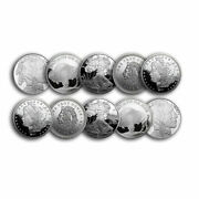 1 Oz Silver Round - Secondary Market Lot Of 10