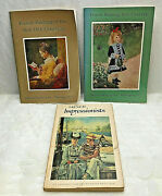 3 Books French Painting 16th-18th 19th Century And French Impressionists Pb 1950's