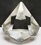 Rare Vintage Nabisco Clear Glass Pyramid Diamond Shaped Paperweight Advertising