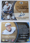 2006-07 Ud Trilogy S1-ao Alexander Ovechkin 1/1 Script Gold 1 Of 1 Auto