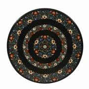 30and039and039 Antique Marble Center Coffee Corner Side Table Top Inlay Pietra Dura H1