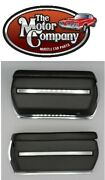 1969 El Camino Front Armrest Bases Complete Also Includes Chrome Backing Plates