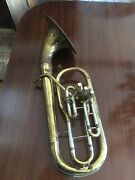 Vintage York Master Baritone Brass Instrument As Is Serial Number 28311
