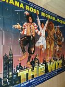 The Wiz Michael Jackson Diana Ross Movie Poster French Billboard 8 Panels 1984
