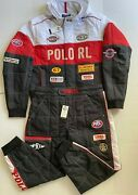 Polo Menand039s Water Repellent Oxford-racing Jacket Andpant Set Size Xl