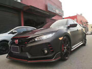 For 17+ Honda Civic Typ-r Fk8 Vrs-style Frp Unpainted Front Lip Wing 5dr Hatch