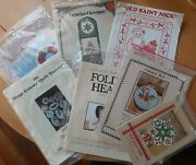 Lot Of 50+ Vintage Quilting Patterns - Quilts Novelties Toys - 1980s