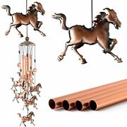 Copper Horse Wind Chims Wind Catcher Gift For Mom Windchimes Outdoor Garden Gift