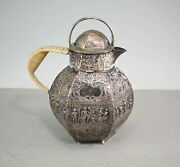 Repousse Silverplate Over Copper E.g. Webster And Son Dutch Revival Tea Pot