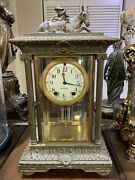 Wonderful Rare Antique Seth Thomas Crystal Regulator Clockandrdquorough Riderandrdquo