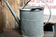 Vintage Galvanized Metal Water Dispenser Outdoor Camping Container Watering Can
