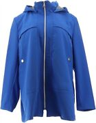 Laurier Emma Softshell Water-resistant Jacket Hood Royal M New 684-368