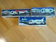 Lot Of 3 Vintage Hess Trucks W/ Boxes 1998, 1999, 2000