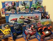 Paw Patrol Paw Patroller W/ 8 Vehicle Playsets Complete Set Transporter New