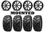 Kit 4 Interco Reptile Tires 30x10-20 On Msa M34 Flash Black Wheels Fxt