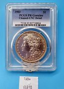Wpcoins 1903 Proof Morgan Dollar Pcgs Genuine, Unc Detail Cleaned